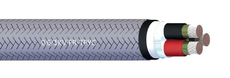 FR-TPYC JIS C3410 Shipboard Armored Power&Lighting Cable