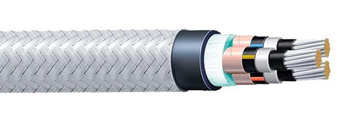 Armored Electrical Cable : Tpyc high voltage shipboard power armored cable hybird