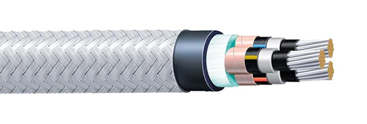 High Voltage Power Cable : Tpyc high voltage shipboard power armored cable hybird